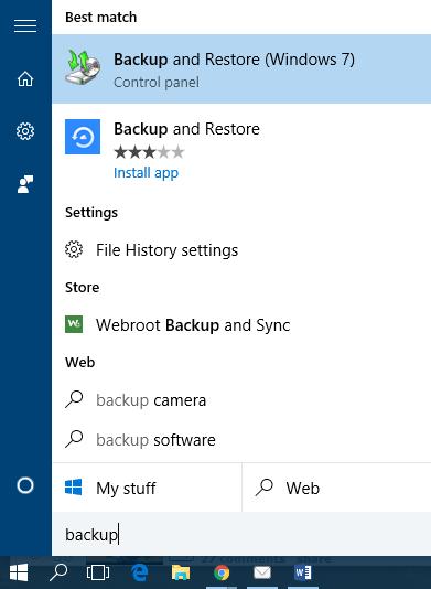 Windows Backup Guide | The Computer Cellar | Computer Repair